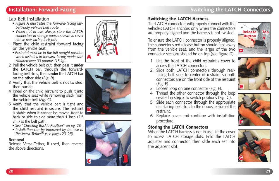 Britax Marathon User Manual   Page 12 / 21   Original mode