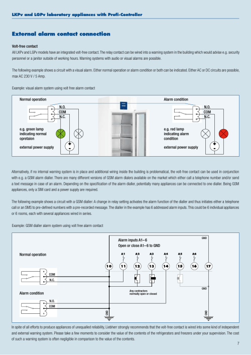 small resolution of external alarm contact connection liebherr wkt 4552 grandcru user manual page 7 36