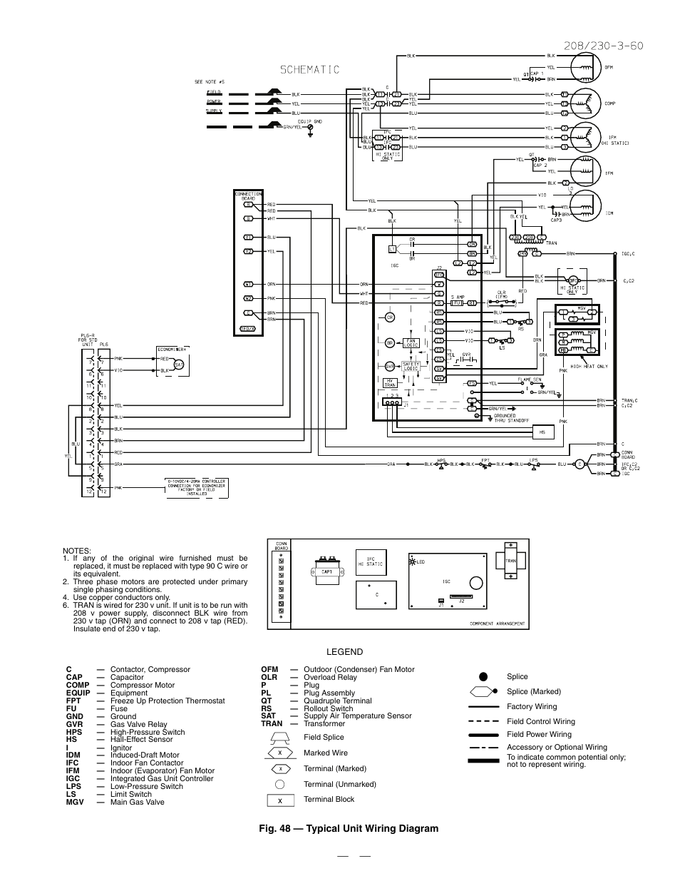 hight resolution of  field pressure switch wiring diagram 48 typical unit wiring diagram bryant durapac series 580f user manual page 57