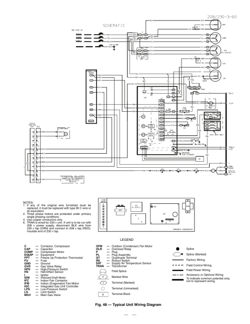 small resolution of  field pressure switch wiring diagram 48 typical unit wiring diagram bryant durapac series 580f user manual page 57