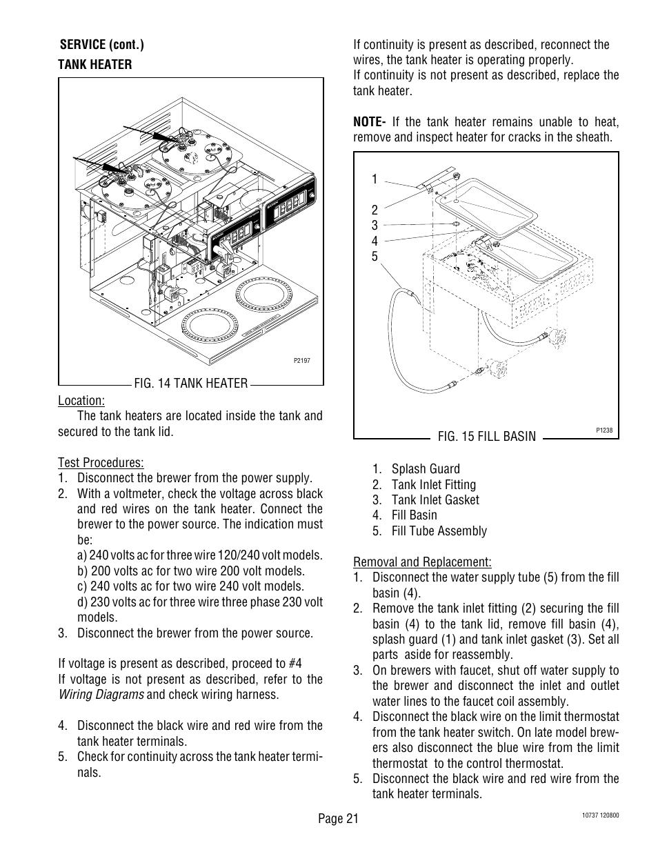 medium resolution of bunn cwtf twin aps user manual page 21 34 bunn cw series problems bunn cw series