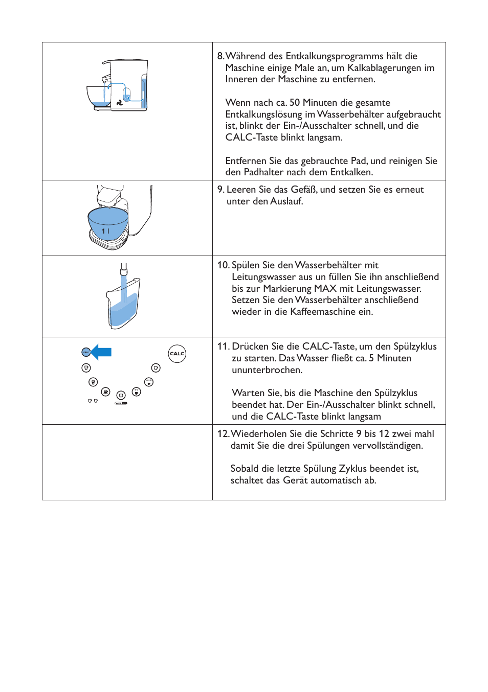 Philips Senseoâ® Latte Duo Kaffeepadmaschine User Manual | Page 5 / 12