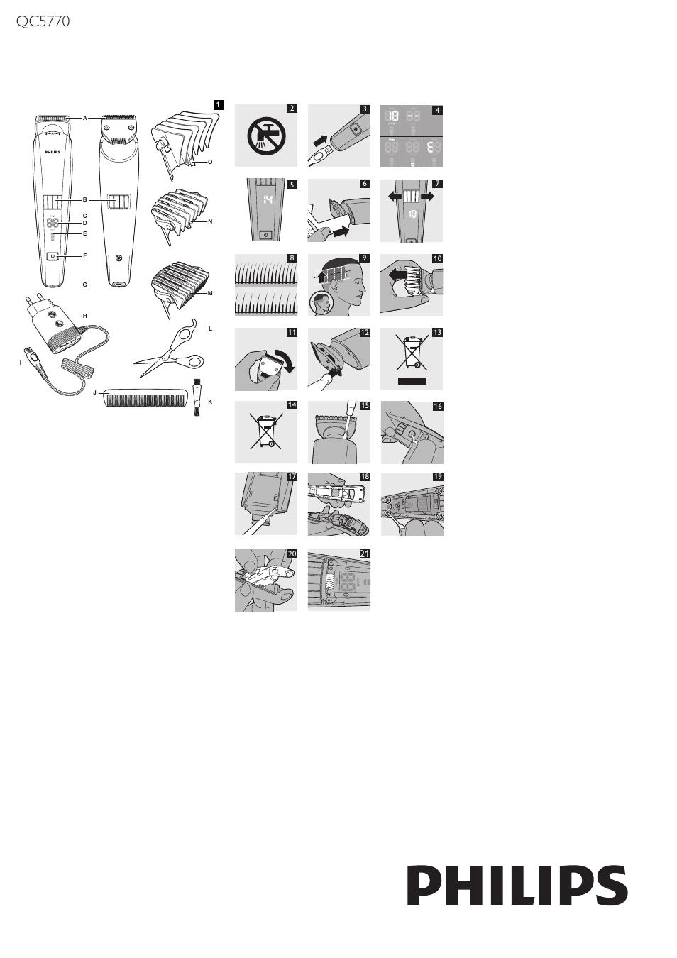 Philips HAIRCLIPPER Series 9000 Haarschneider User Manual