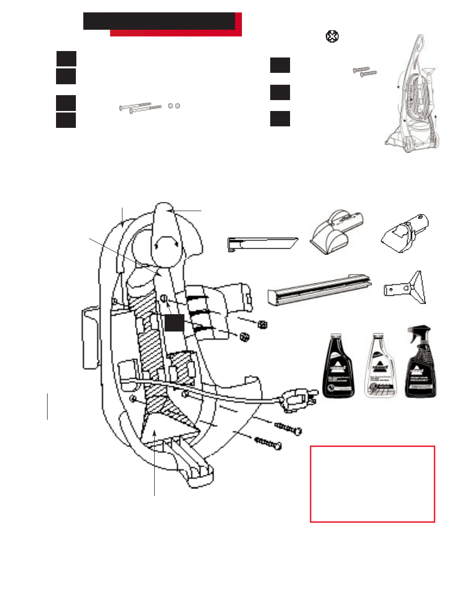 Vacuum Diagram And Parts List For Bissell Vacuumparts Model 5770