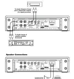 troubleshooting specifications low level input wiring power connections speaker connections model [ 954 x 1475 Pixel ]