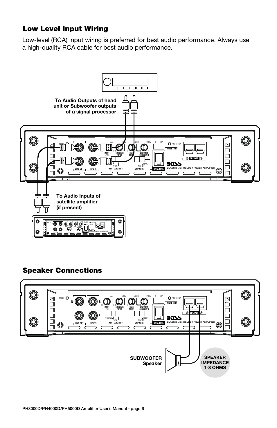 hight resolution of troubleshooting specifications low level input wiring power connections speaker connections model