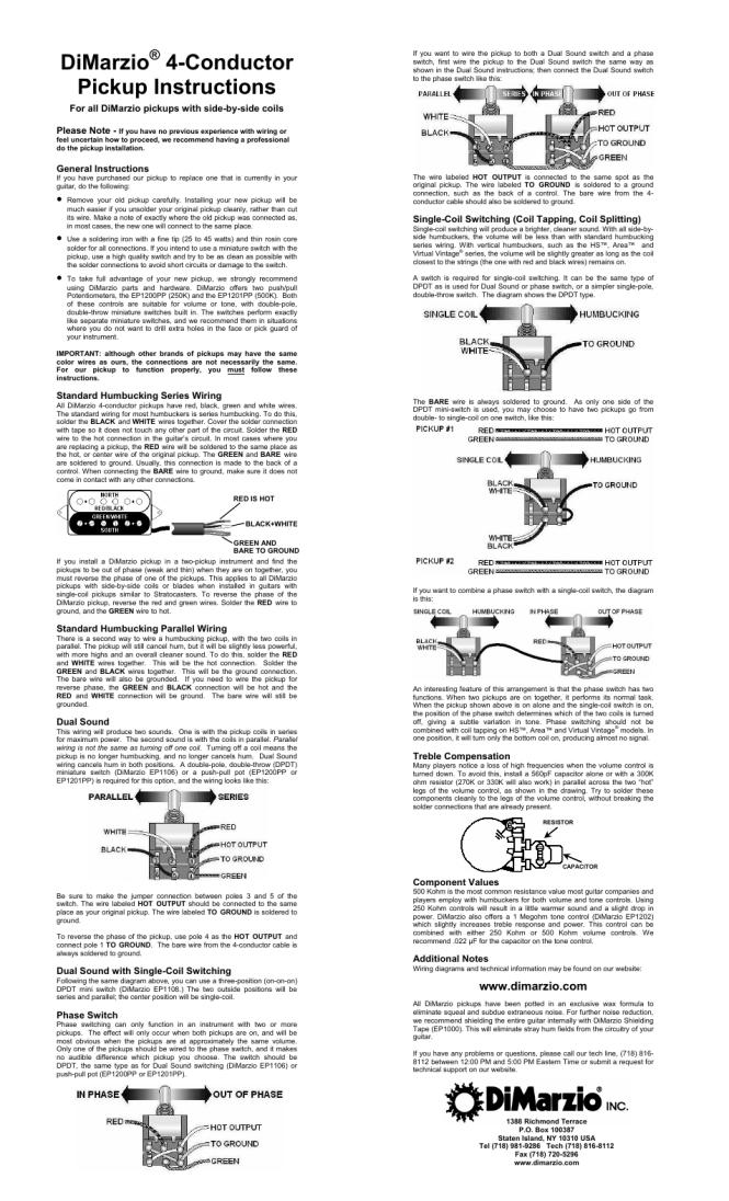 dimarzio humbucker wiring diagram dimarzio image dimarzio super distortion wiring diagram wiring diagrams on dimarzio humbucker wiring diagram