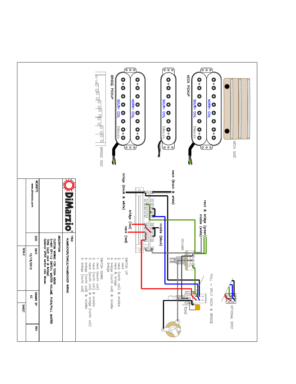 Dimarzio 5 Way Switch Wiring Diagram : 36 Wiring Diagram