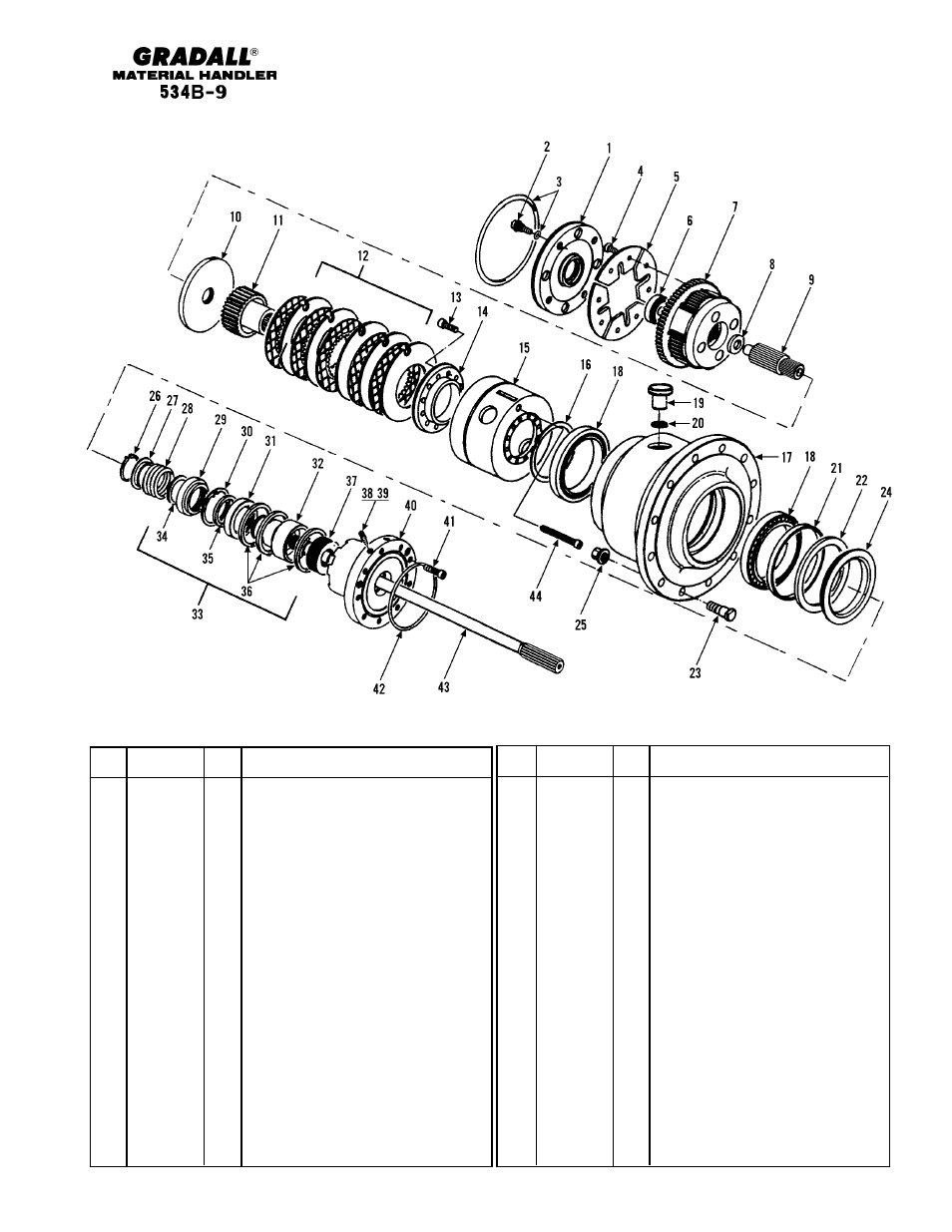 Drive train front axle shaft & planetary wheel end