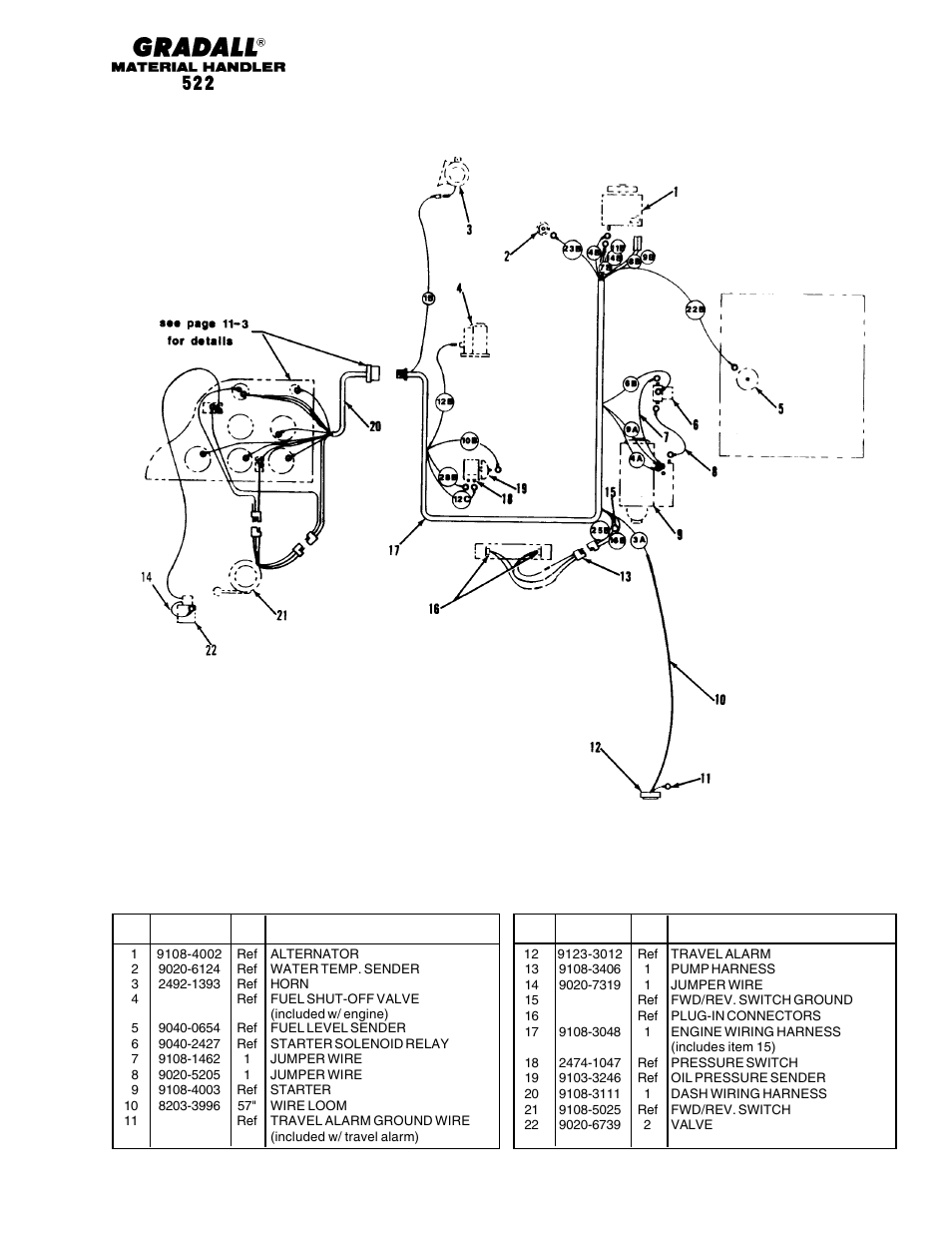 medium resolution of section 11 electrical electrical engine wiring 522 gradall 524 parts manual user manual page 200 312