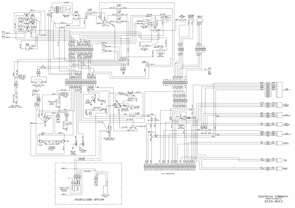 110 Electrical Wiring Diagram 9153 9012 Electrical Schematic Gradall 534d 10 Service