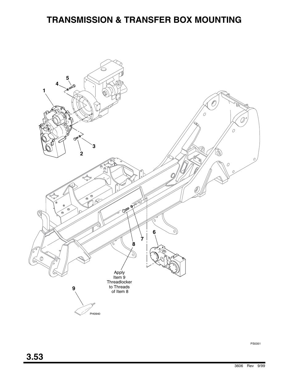 Transmission & transfer box mounting, Brake assembly