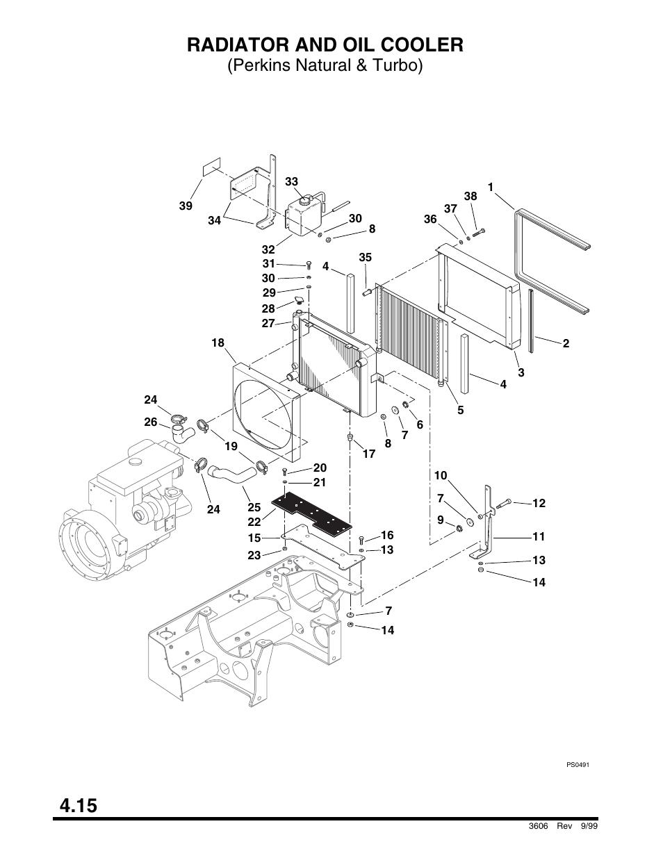 Radiator and oil cooler (perkins natural & turbo), Valve