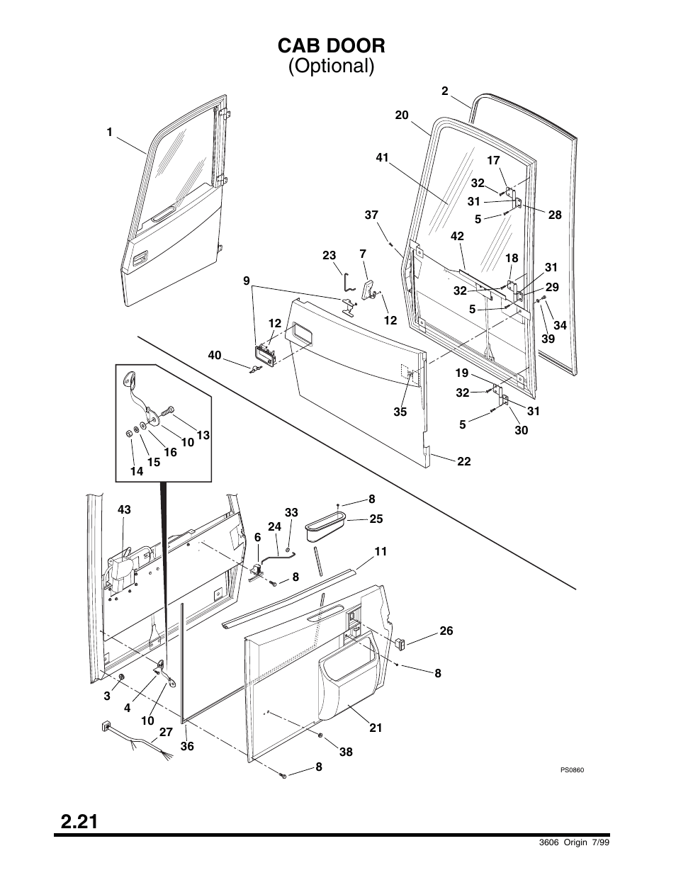 Cab door, Cummins), High, third and output shaft group