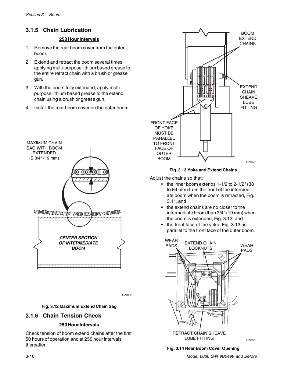 hight resolution of 5 chain lubrication 6 chain tension check skytrak 6036 service manual user manual page 28 280