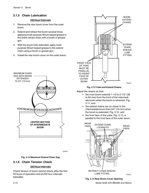 small resolution of 5 chain lubrication 6 chain tension check skytrak 6036 service manual user manual page 28 280