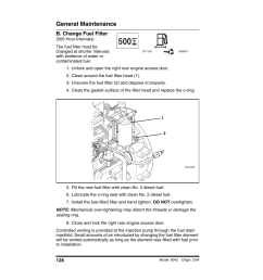 b change fuel filter 500 hour intervals unlock and open the right rear engine access door skytrak 6042 operation manual user manual page 130 196 [ 954 x 1235 Pixel ]