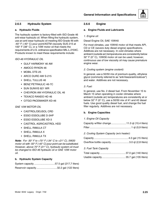 small resolution of hydraulic system engine section 2 6 6 engine skytrak 6042 service manual user manual page 39 544