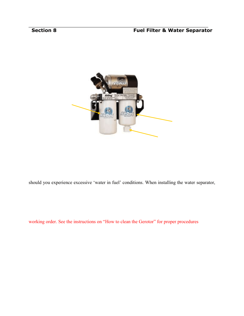 hight resolution of filter service recommendations pureflow airdog df 165 4g gm duramax 2015 user manual page 18 23