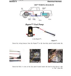 installing the raptor fuel pump wiring harness pureflow airdog rp 150 gm [ 954 x 1235 Pixel ]