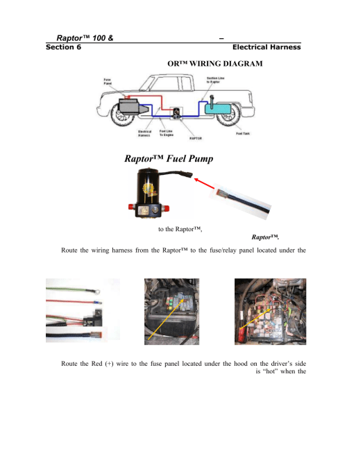 small resolution of installing the raptor fuel pump wiring harness pureflow airdog rp 150 gm