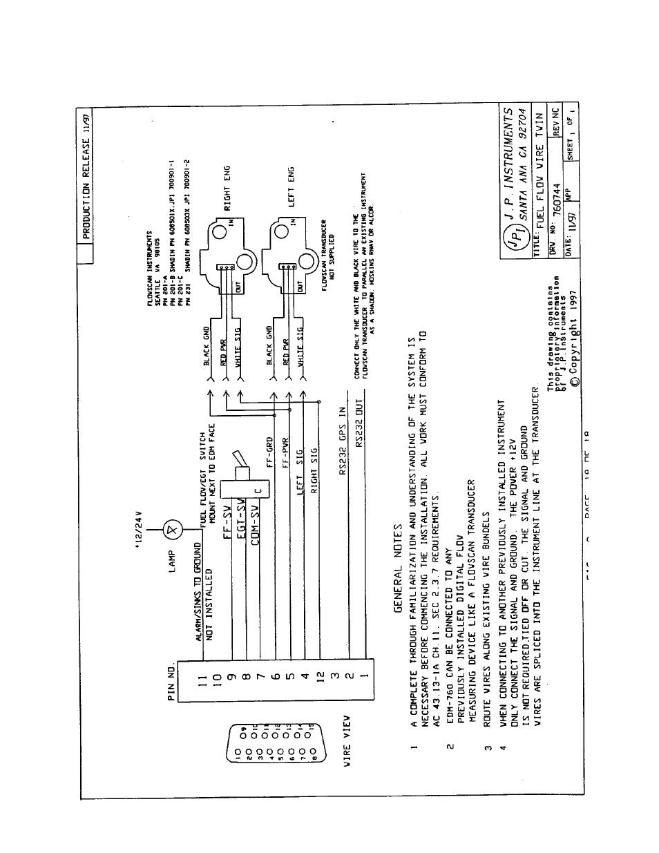 J.P. Instruments EDM 760 Instrument Installation Manual