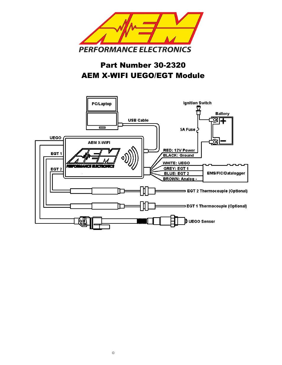 medium resolution of  aem 30 2067 x wifi wideband uego egt controller user manual 14 aem uego wiring diagram