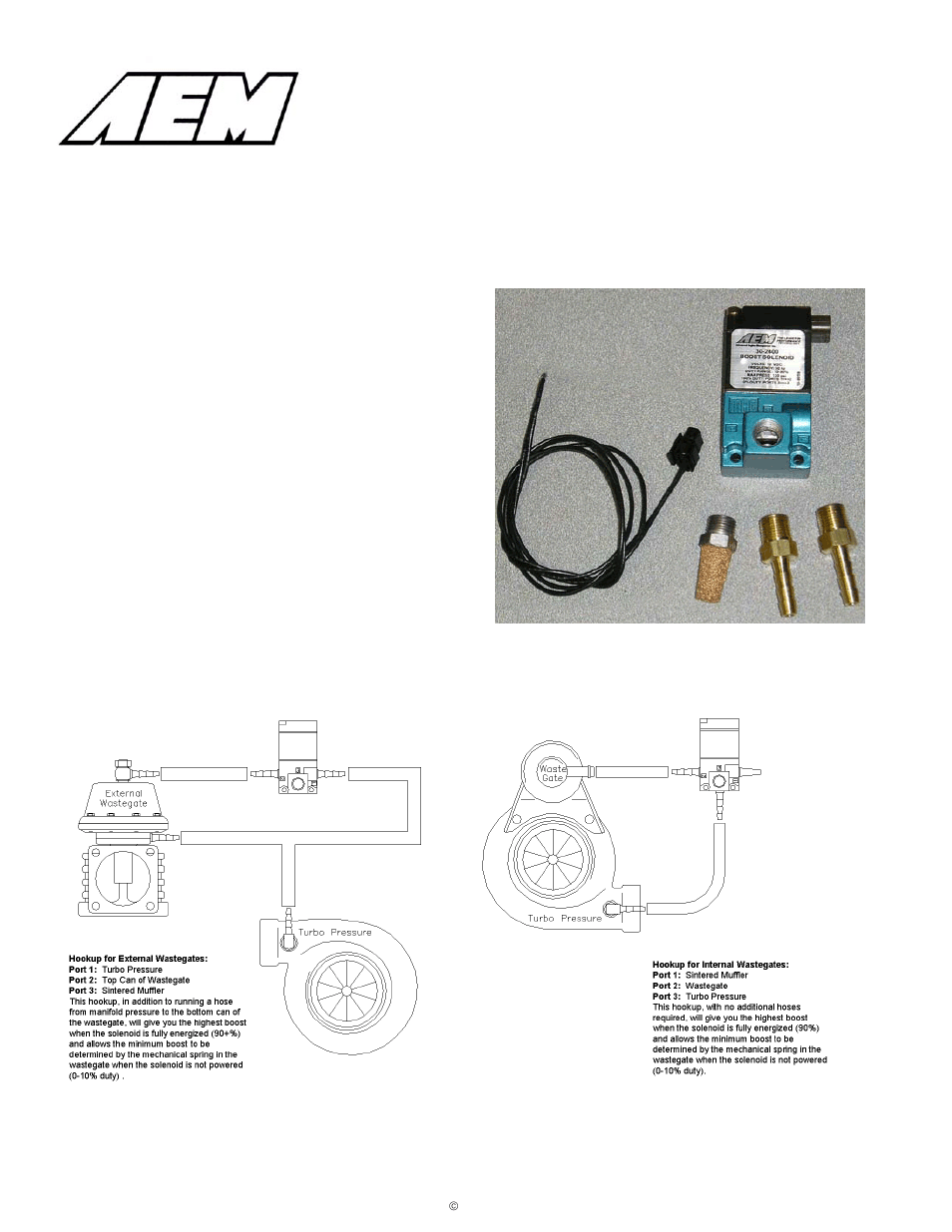 medium resolution of aem 30 2400 boost control solenoid kit user manual
