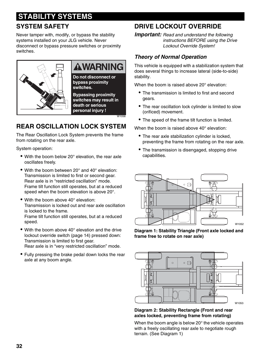Stability systems, System safety, Rear oscillation lock