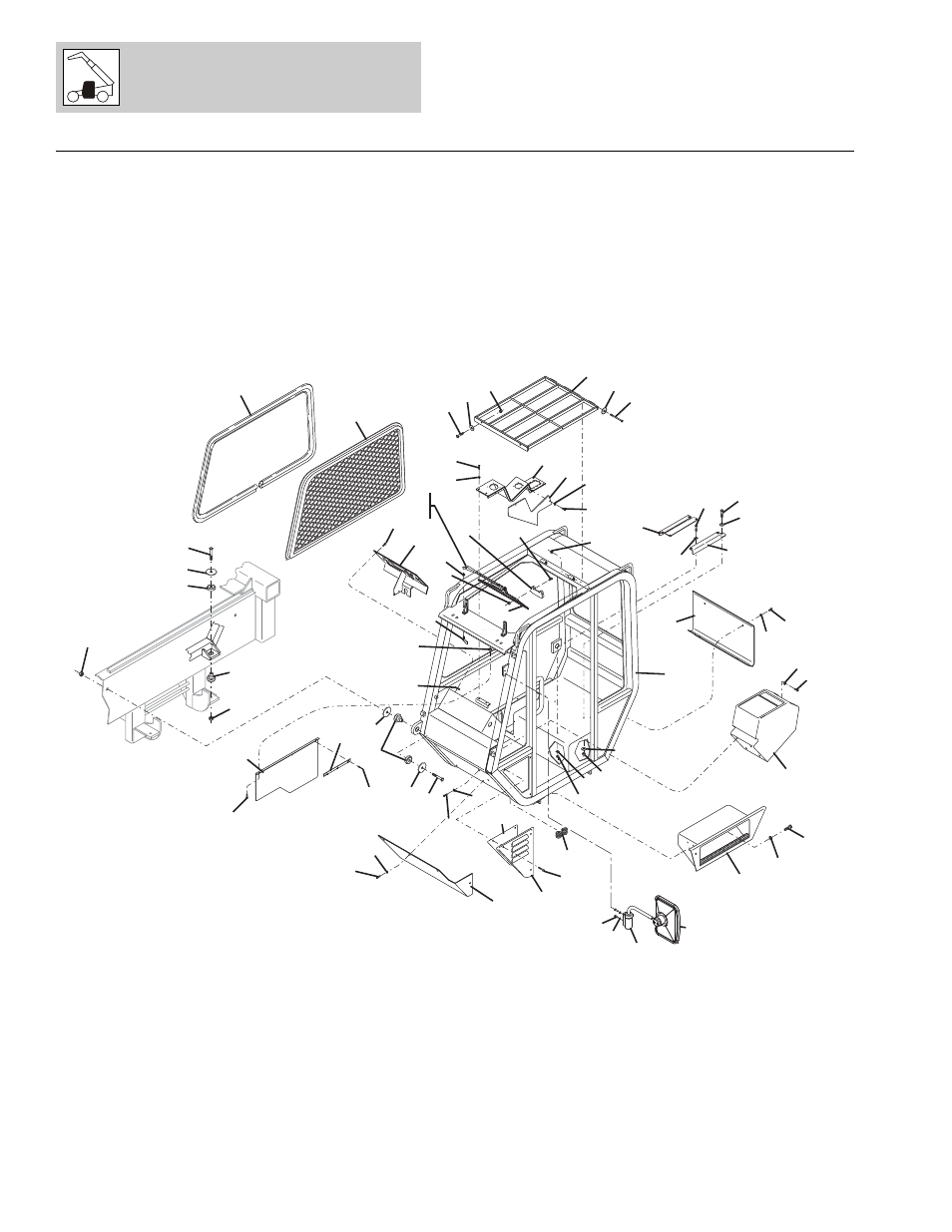 Figure 6-1 operators compartment assembly, Operators