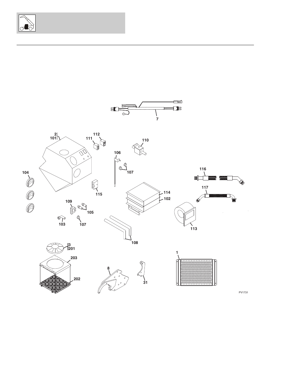 Figure 6-10 heater & air conditioning system, Heater & air