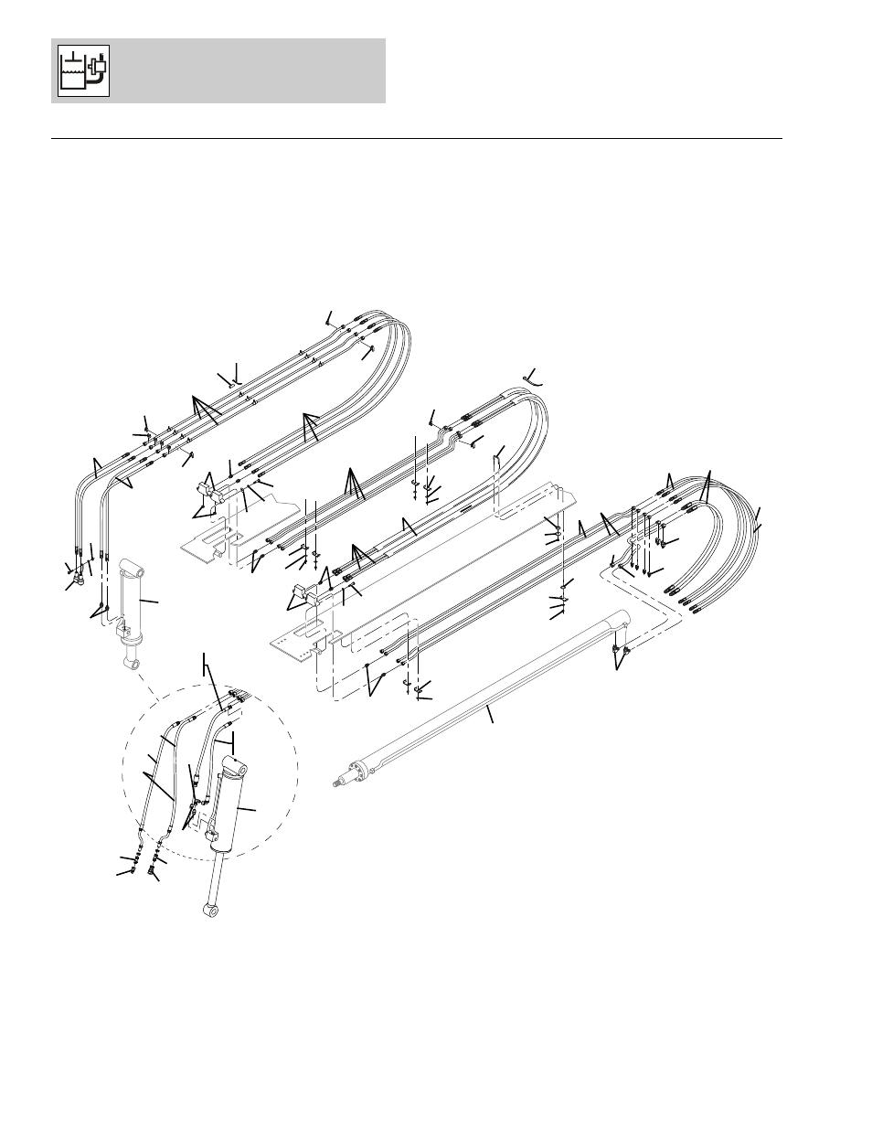 Figure 8-2 boom hydraulic cylinder, Boom hydraulic