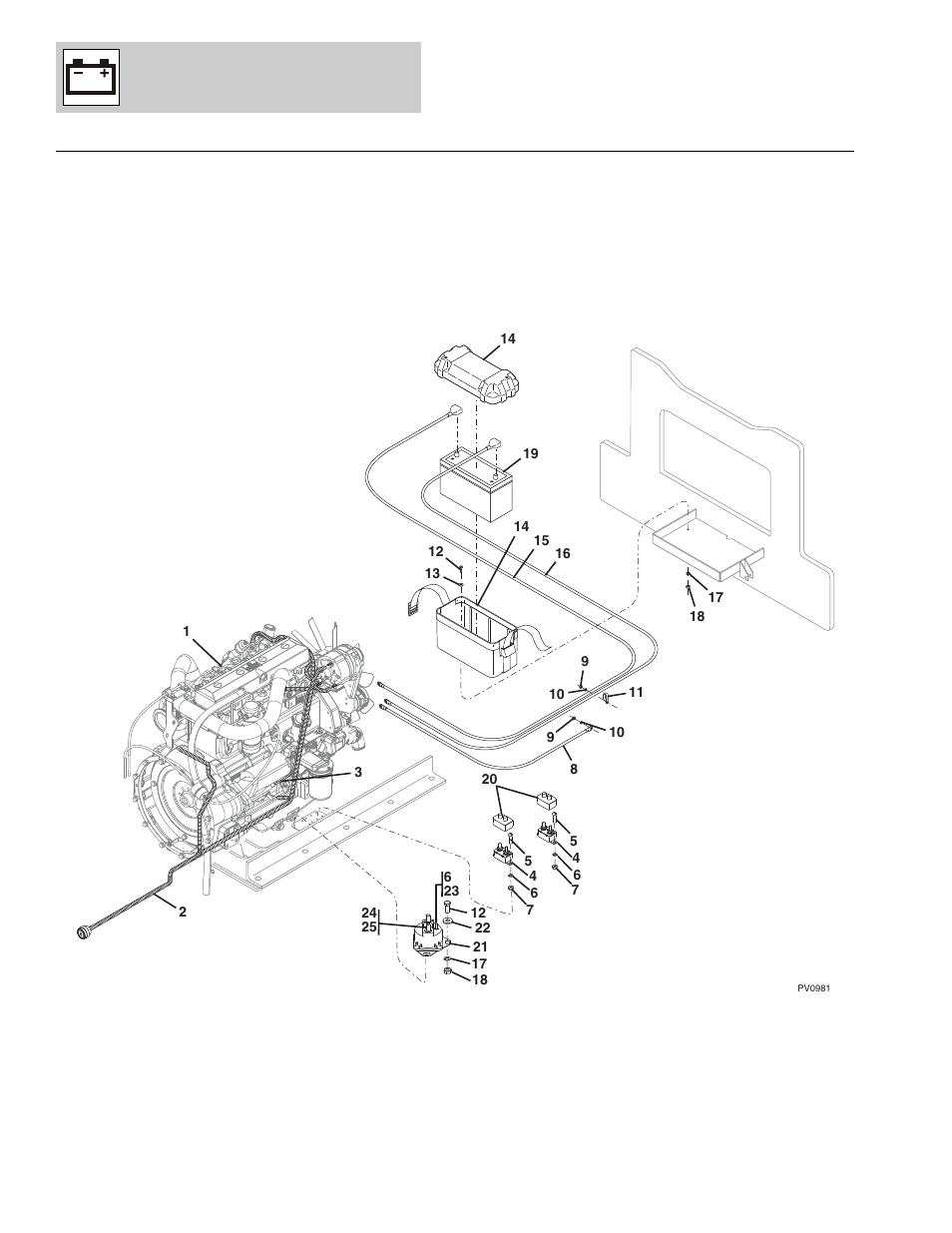 Figure 10-3 engine electrical group, Engine electrical