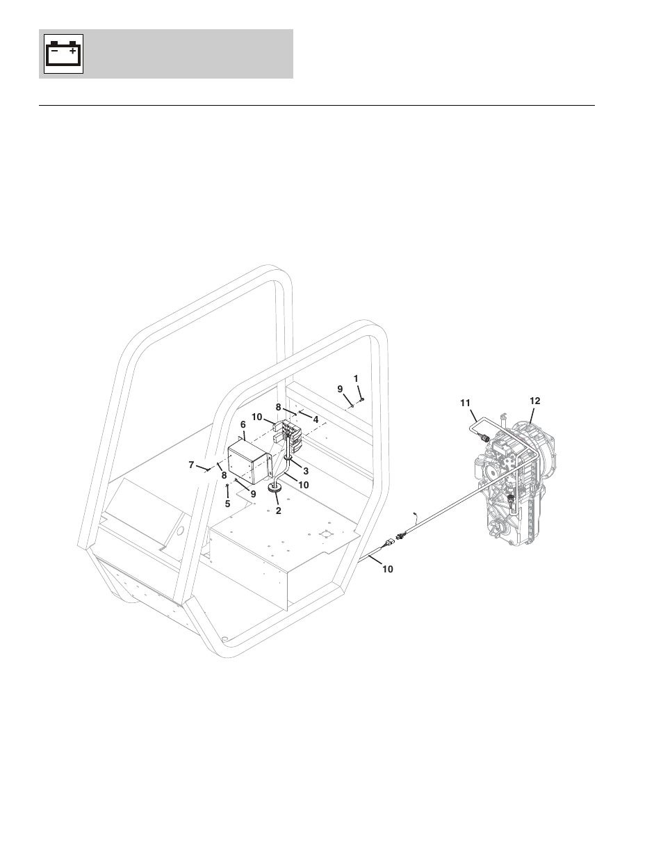 Figure 10-4 transmission harness installation