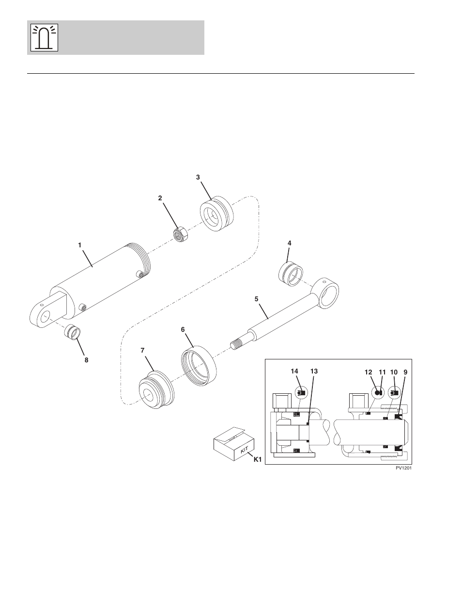Figure 12-4 tilting carriage cylinder, Tilting carriage