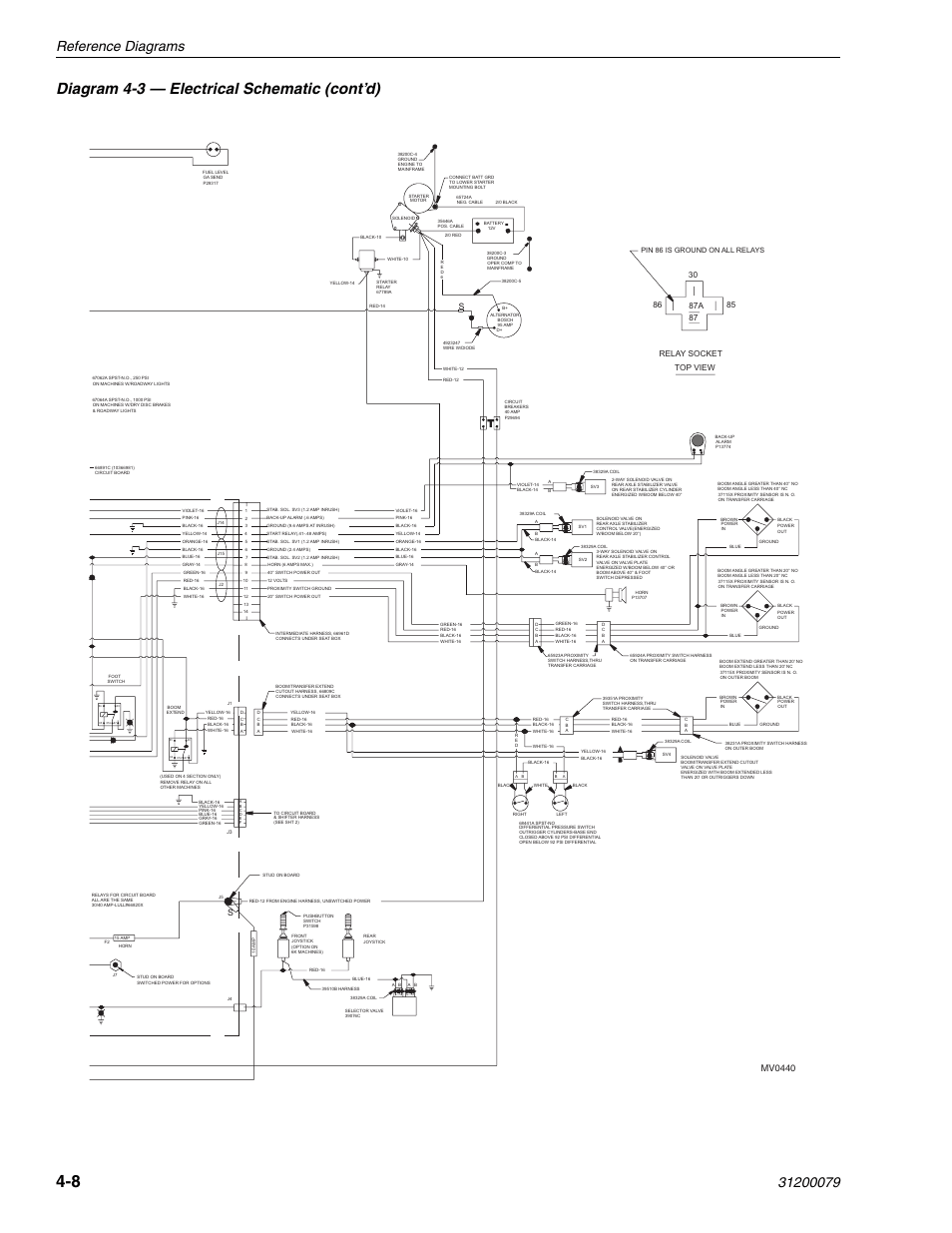 110 Electrical Schematic Wiring Diagram Diagram 4 3 Electrical Schematic Cont D Reference