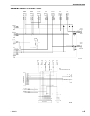Diagram 43 — electrical schematic (cont'd), Mv0450, Mv0460 | Lull 1044C54 Series II Service