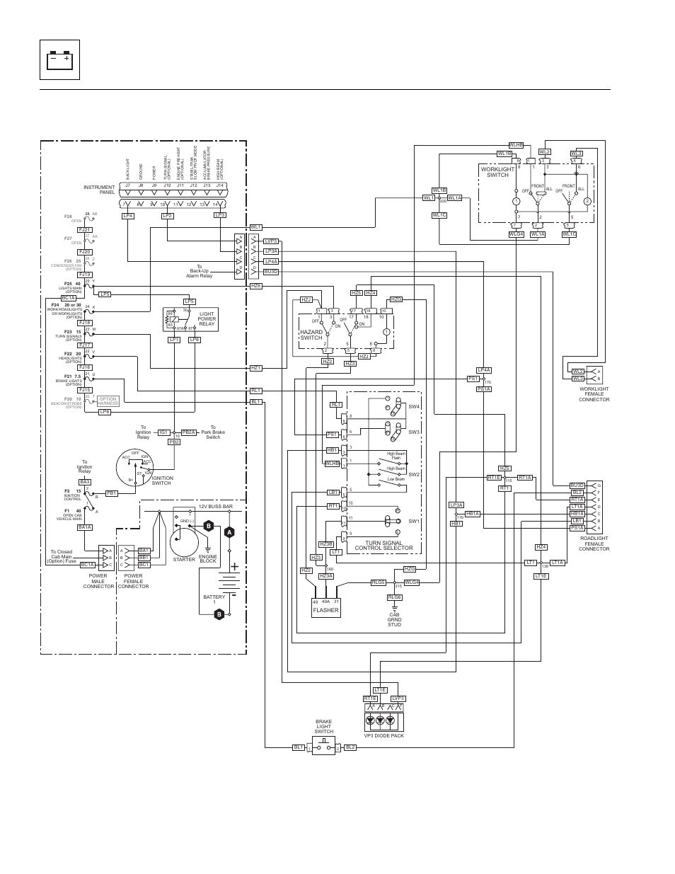 22 optional roadlight electrical schematic, Electrical