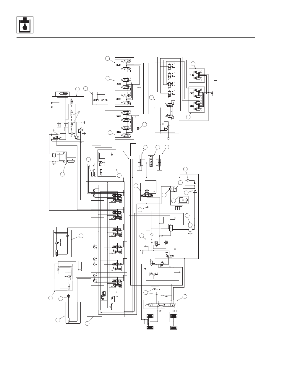 2 hydraulic schematic, 944e, Hydraulic schematic, 944e