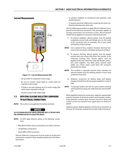 small resolution of current measurement current measurement 3 current measurement dc 3 jlg 660sj service manual user manual page 303 328