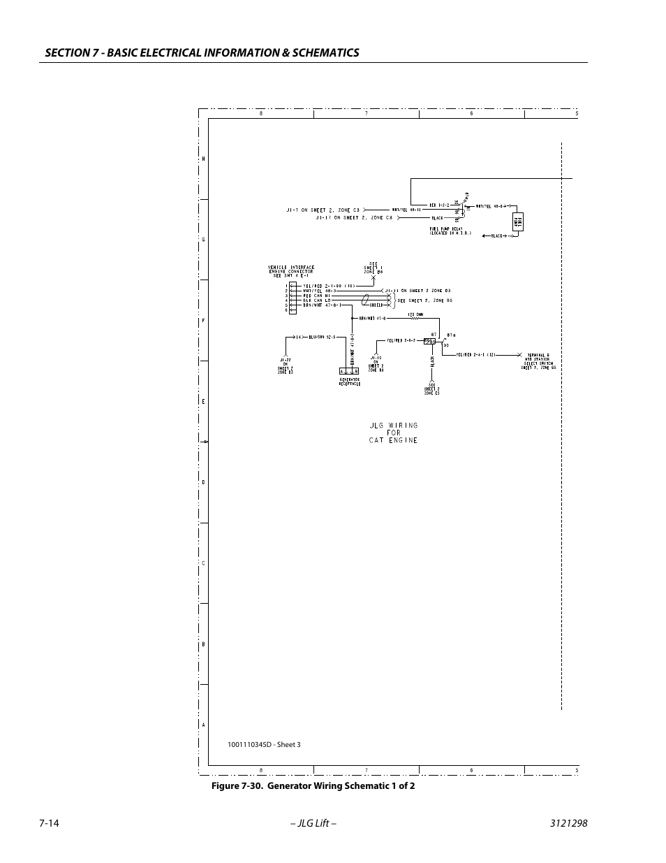 medium resolution of generator wiring schematic 1 of 2 14 jlg 660sj service manual user manual