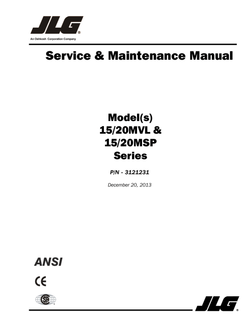 small resolution of jlg 15 20msp service manual user manual 174 pages also for 15