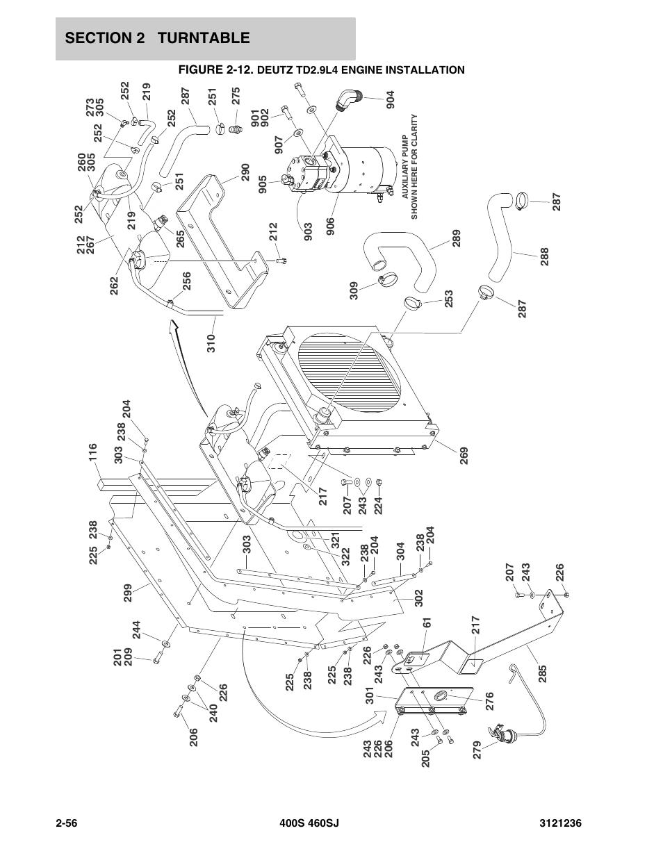 Figure 2-12. deutz td2.9l4 engine installation, Deutz td2