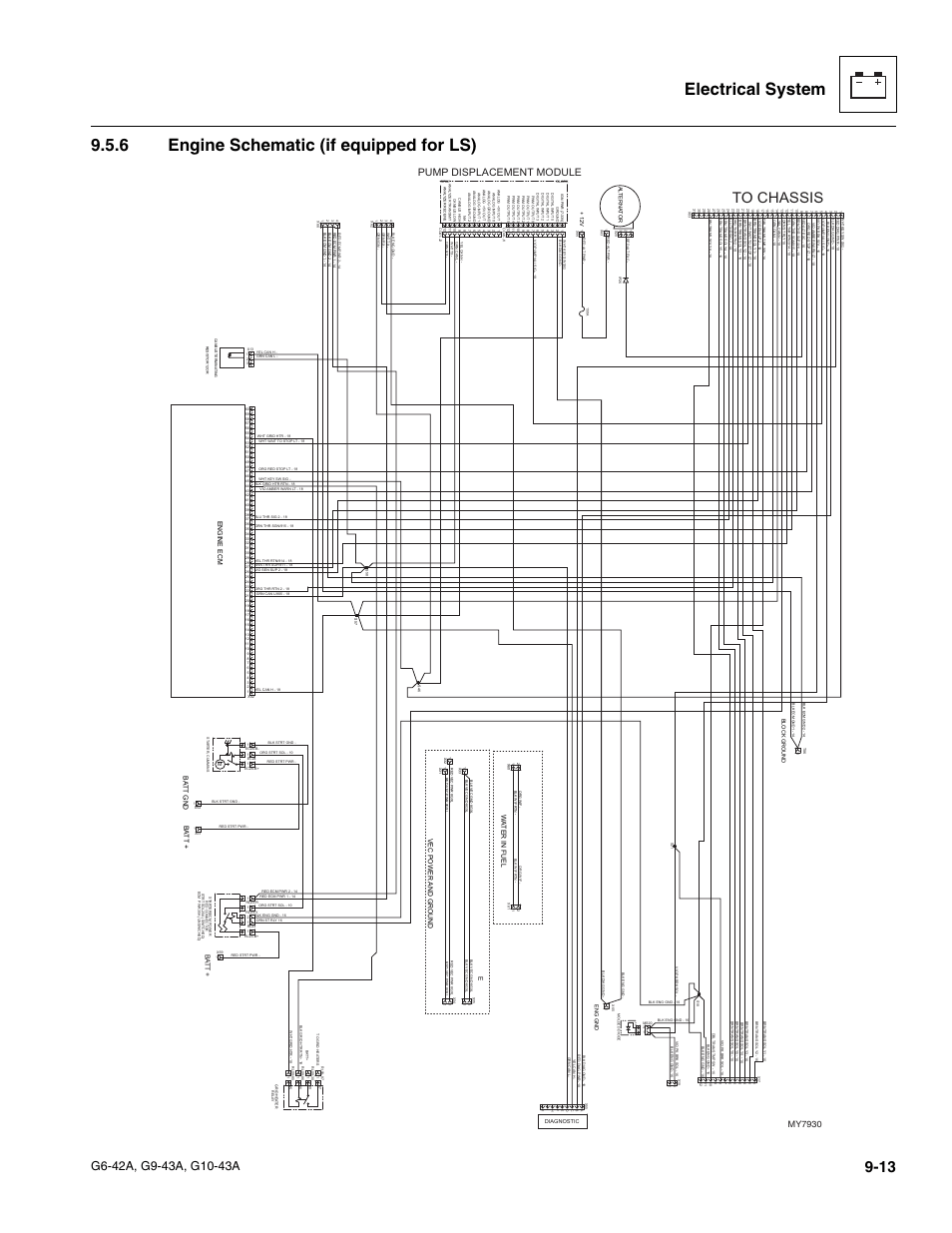 6 engine schematic (if equipped for ls), Engine schematic