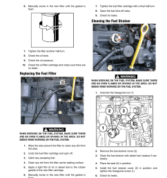 replacing the fuel filter cleaning the fuel strainer jlg 1250ajp service manual user manual page 163 606 [ 954 x 1235 Pixel ]