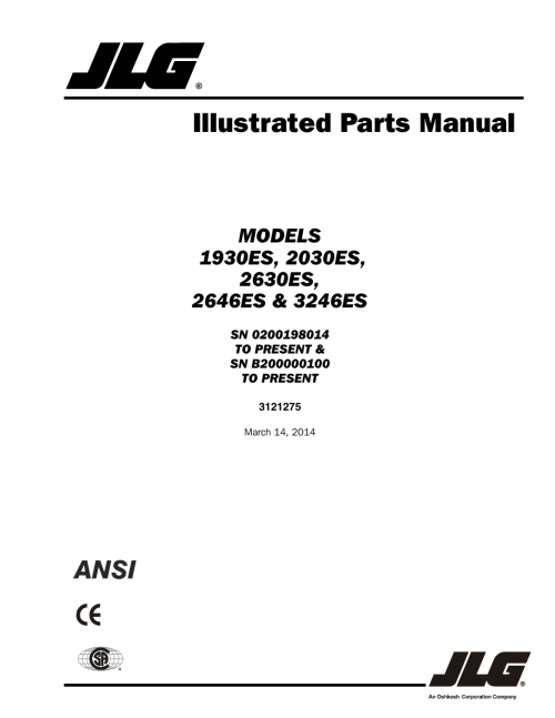 small resolution of jlg 3246es parts manual user manual 186 pages also for 2646es parts manual 2046es parts manual 2030es parts manual 1930es parts manual