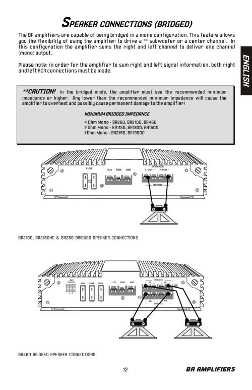 small resolution of peaker connections bridged en gl is h ba amplifiers bazooka ba260