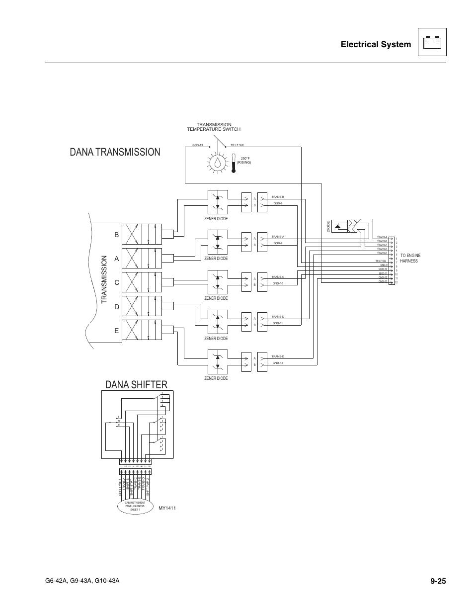 medium resolution of dana transmission dana shifter electrical system jlg g6 42a service manual user manual