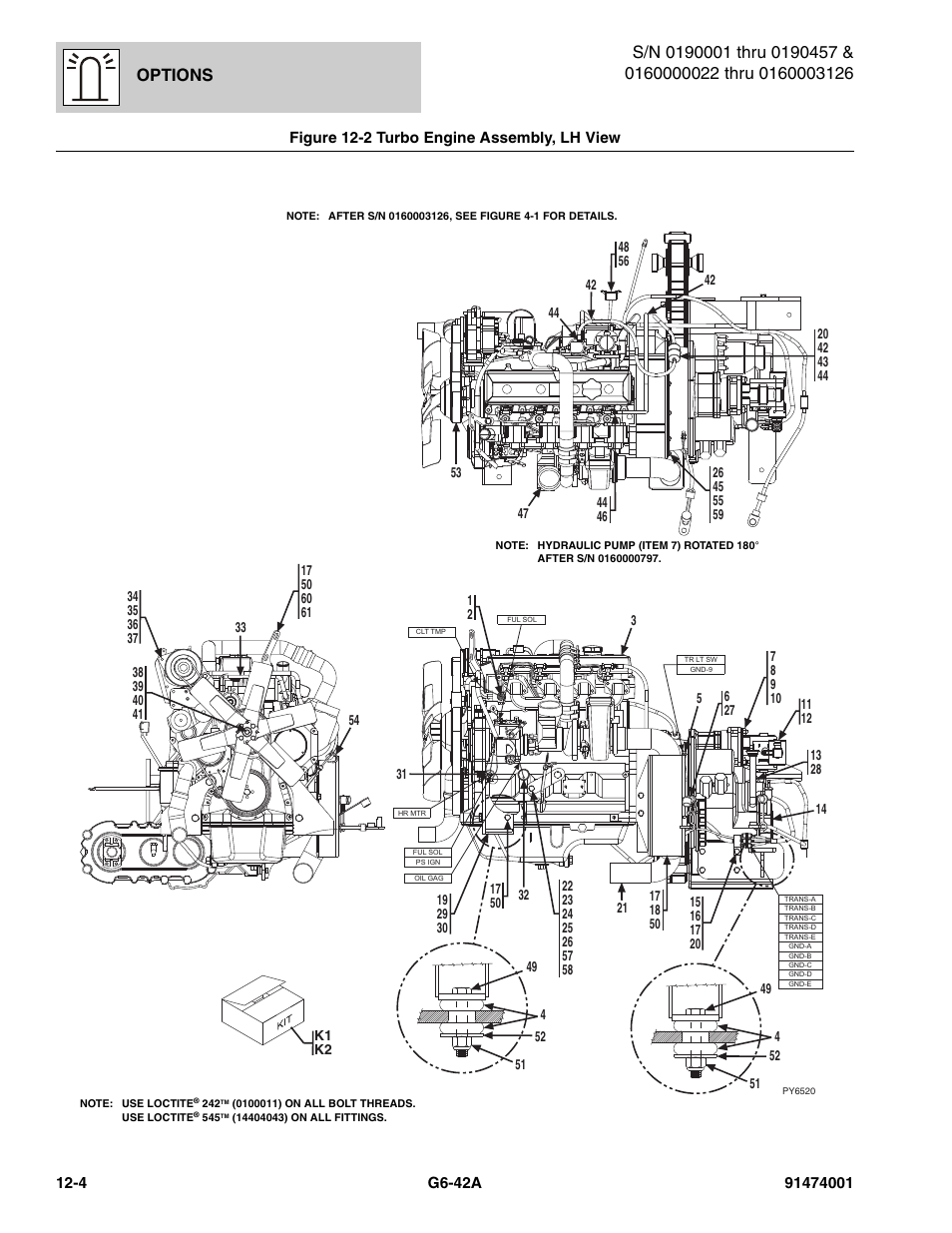 Figure 12-2 turbo engine assembly, lh view, Turbo engine