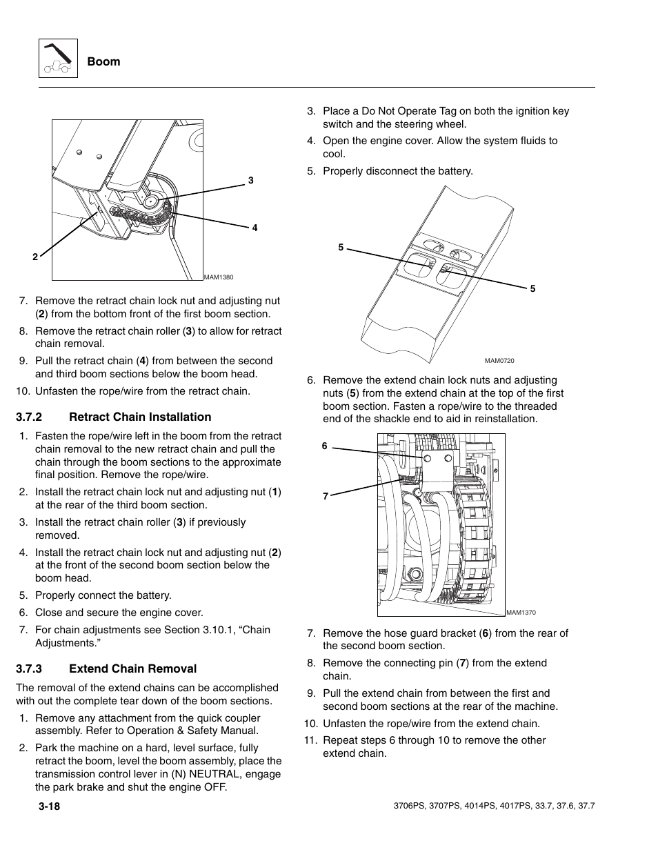 hight resolution of 2 retract chain installation 3 extend chain removal retract chain installation jlg 4017ps service manual user manual page 56 264